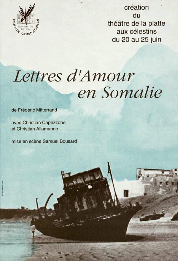 """<p class=""""titrepf"""">Lettres d'amour en Somalie - théâtre de la Platte</p>"""